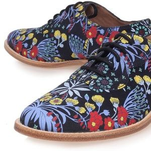 Marc by Marc Jacobs Floral Leather Oxfords